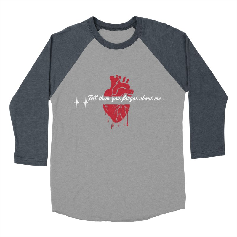 FLATLINE Men's Baseball Triblend Longsleeve T-Shirt by TODD SARVIES BAND APPAREL