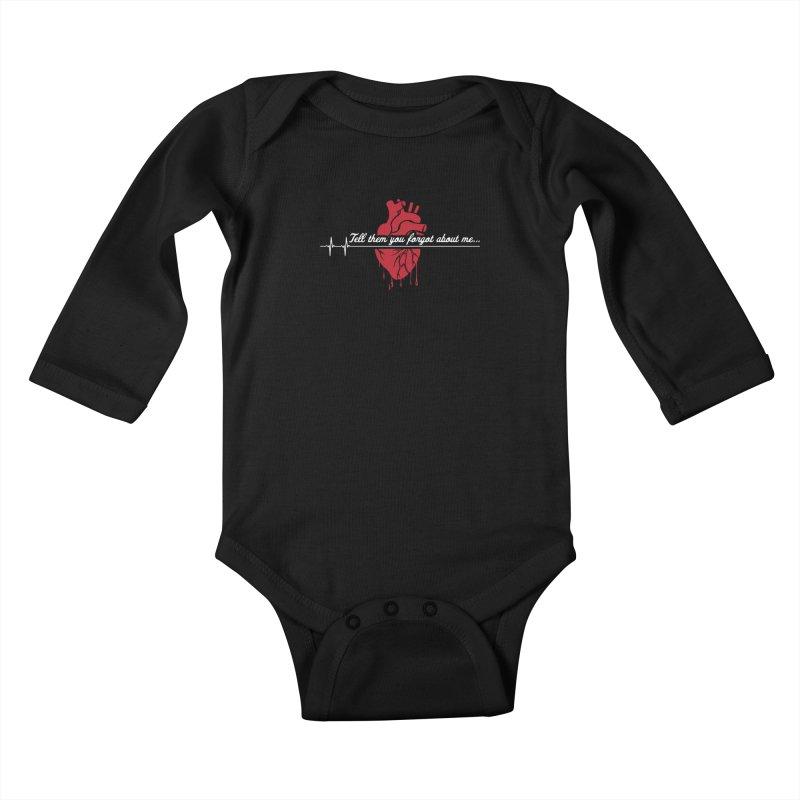 FLATLINE Kids Baby Longsleeve Bodysuit by TODD SARVIES BAND APPAREL