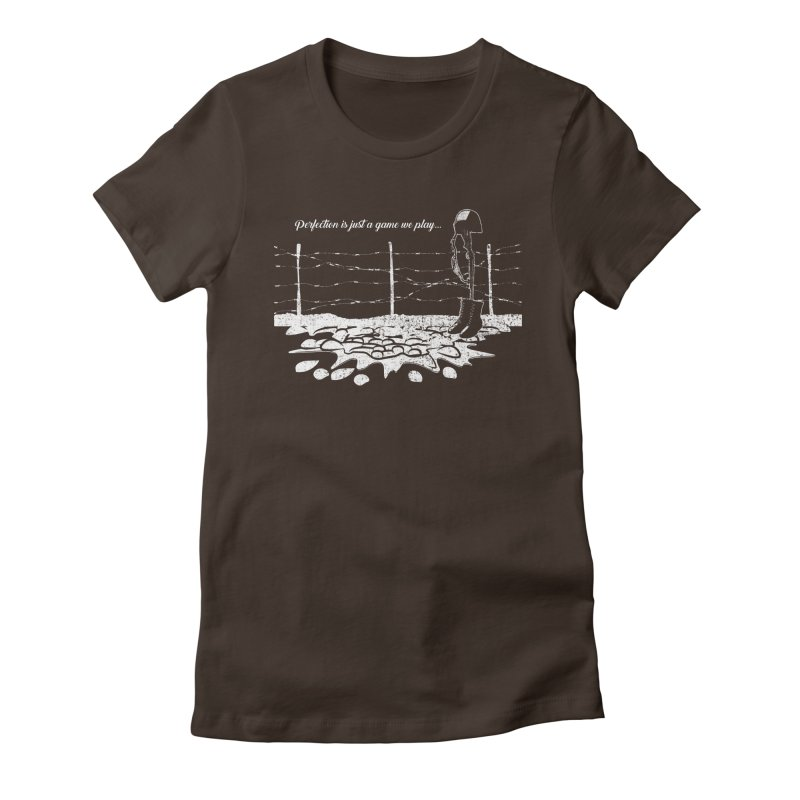 FARE THEE WELL in Women's Fitted T-Shirt Chocolate by TODD SARVIES BAND APPAREL