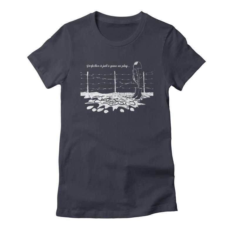 FARE THEE WELL Women's Fitted T-Shirt by TODD SARVIES BAND APPAREL