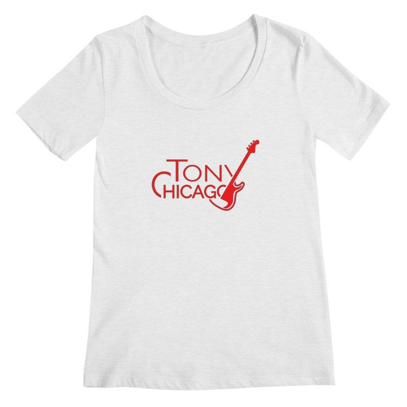 CHICAGO COLORS Women's Regular Scoop Neck by TONYCHICAGO 's Artist Shop