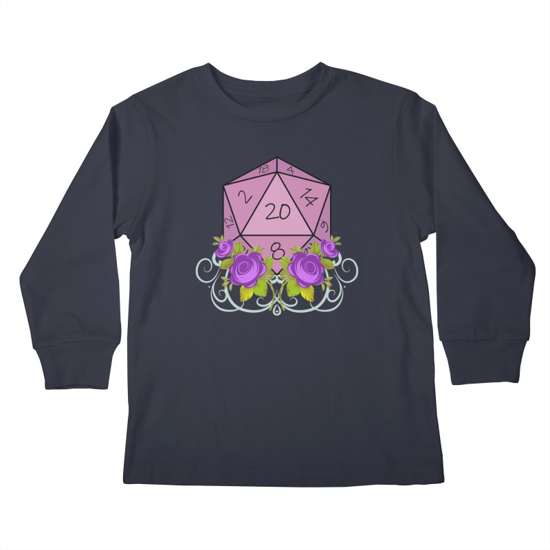 D20 Logo Kids Longsleeve T-Shirt by TabletopTiddies's Merch