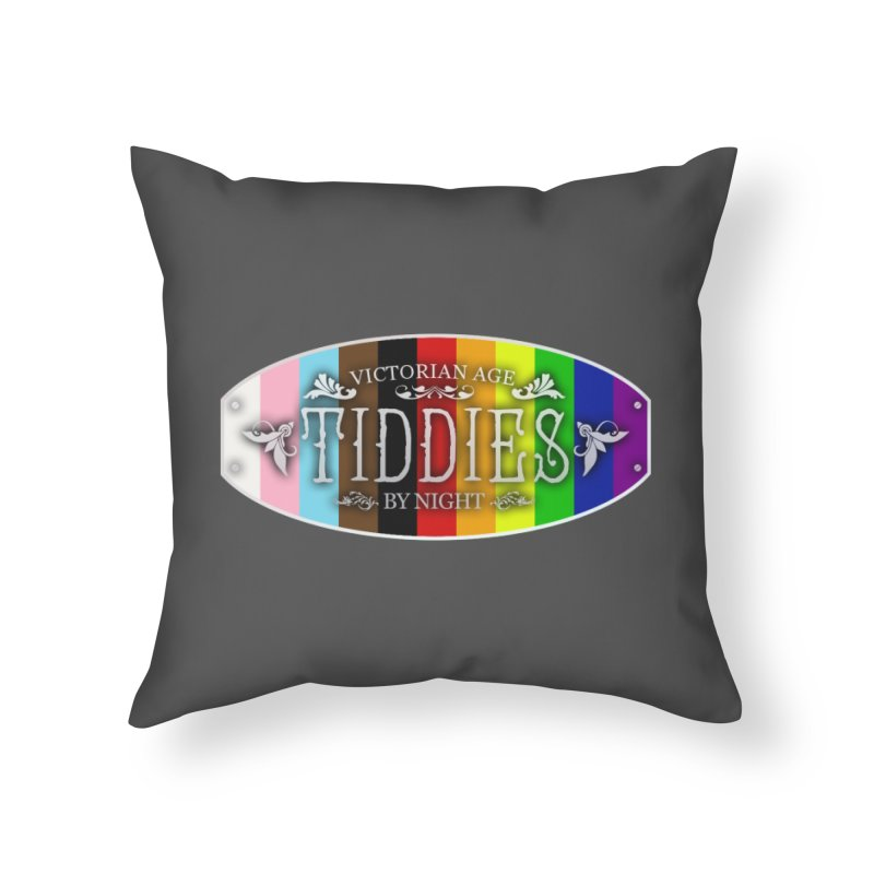 Tiddies By Night - PRIDE Home Throw Pillow by TabletopTiddies's Merch