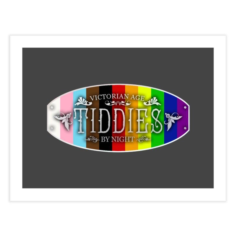 Tiddies By Night - PRIDE Home Fine Art Print by TabletopTiddies's Merch