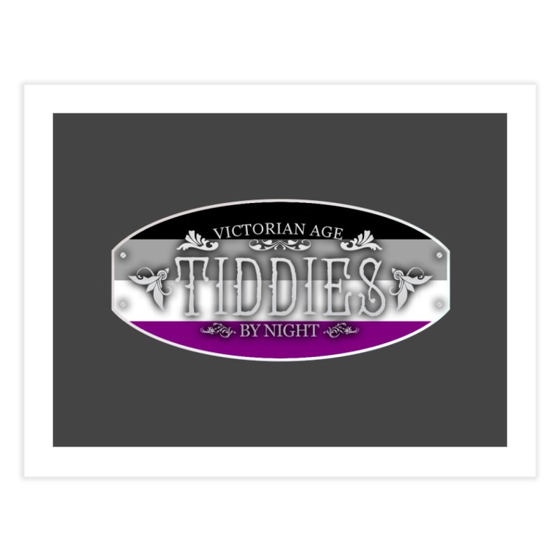 Tiddies By Night - ASEXUAL Home Fine Art Print by TabletopTiddies's Merch