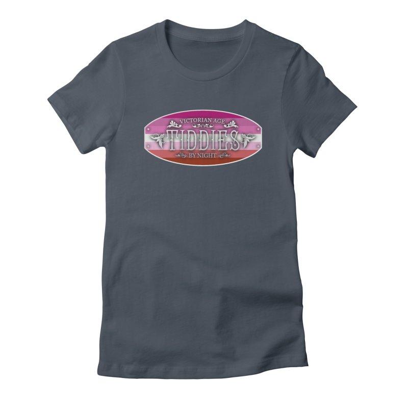 Tiddies By Night - LESBIAN Feminine T-Shirt by TabletopTiddies's Merch