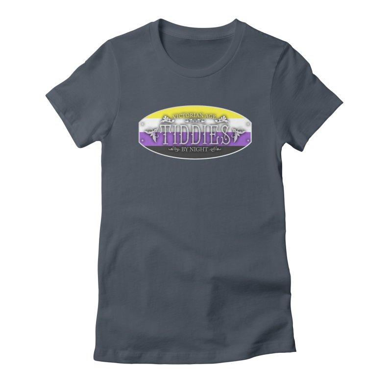 Tiddies By Night - NON-BINARY Feminine T-Shirt by TabletopTiddies's Merch