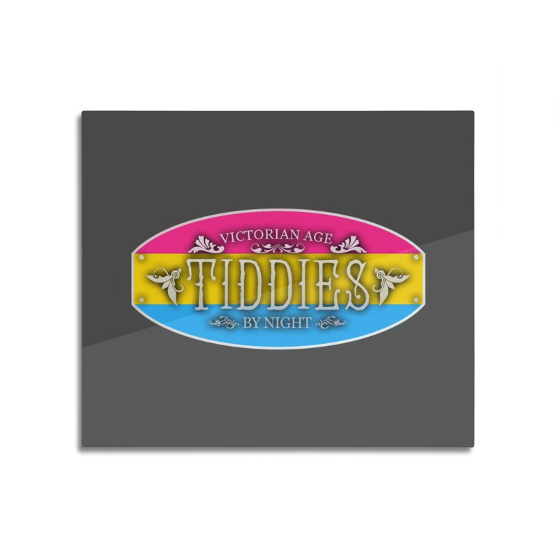 Tiddies By Night - PANSEXUAL Home Mounted Aluminum Print by TabletopTiddies's Merch
