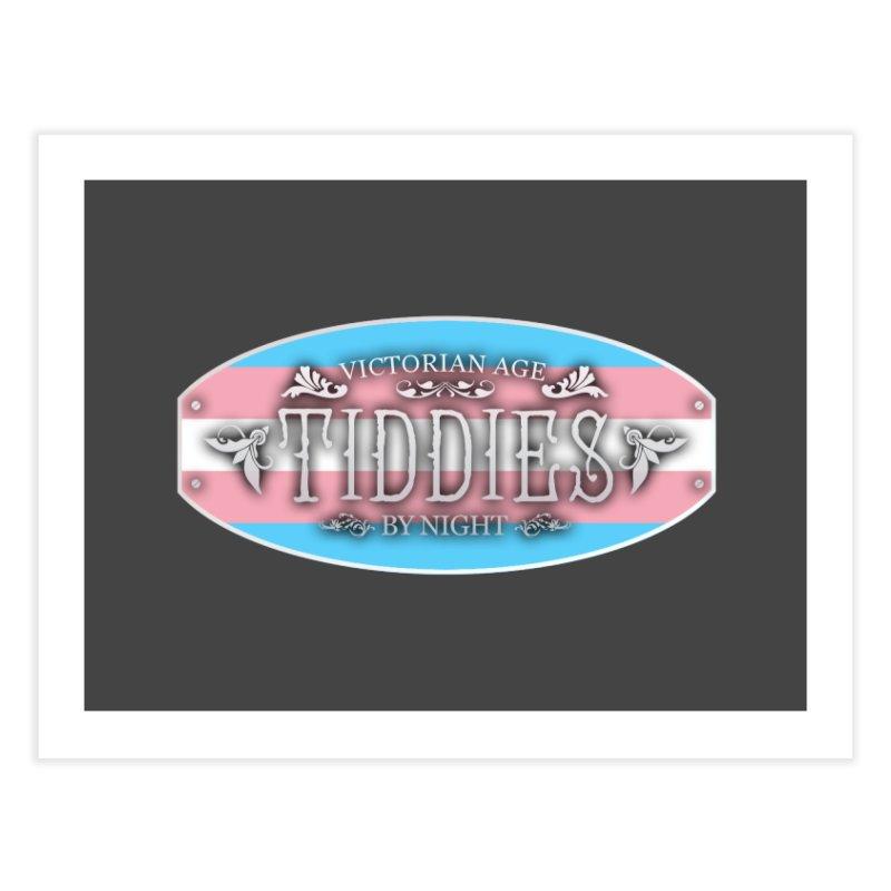 Tiddies By Night - TRANSGENDER Home Fine Art Print by TabletopTiddies's Merch