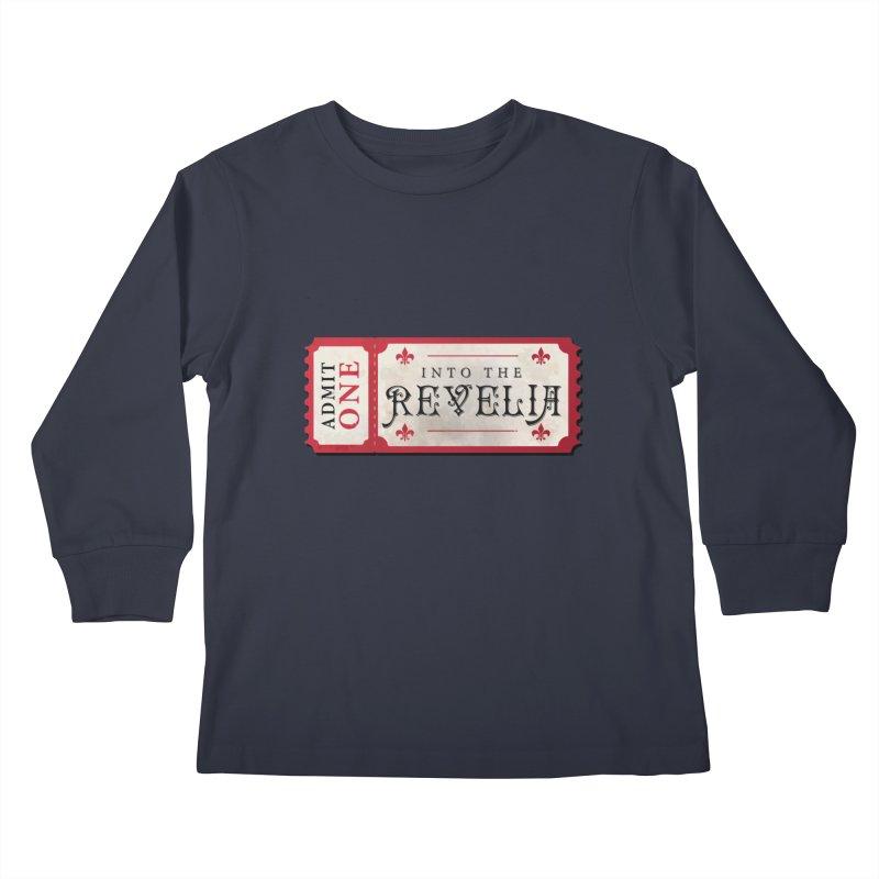Into The Revelia Logo Kids Longsleeve T-Shirt by TabletopTiddies's Merch