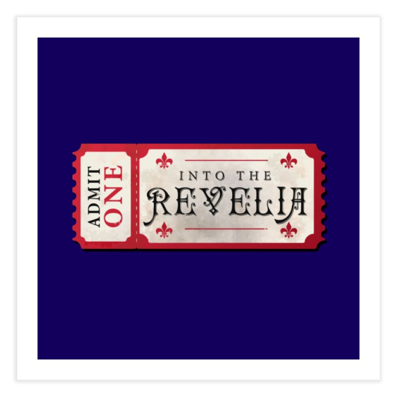 Into The Revelia Logo Home Fine Art Print by TabletopTiddies's Merch