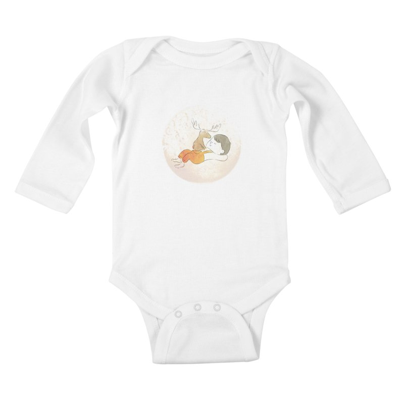 Chocolate Moose Kids Baby Longsleeve Bodysuit by Habuki Artist Shop