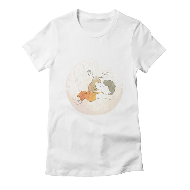 Chocolate Moose Women's Fitted T-Shirt by Habuki Artist Shop