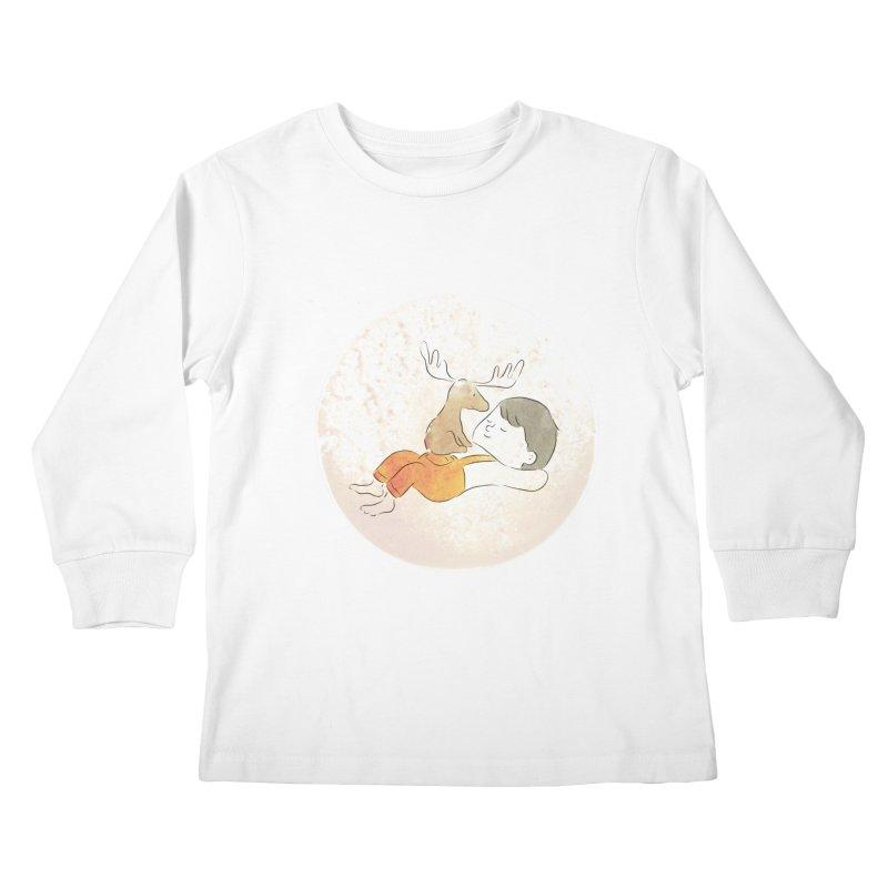 Chocolate Moose Kids Longsleeve T-Shirt by Habuki Artist Shop