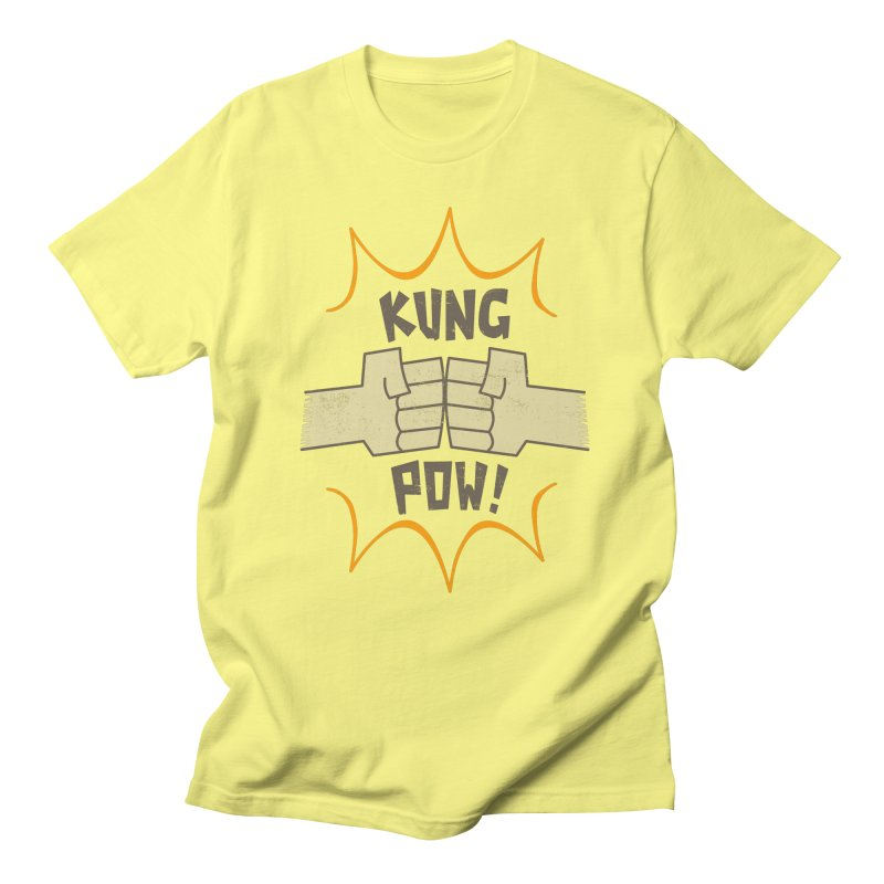 KUNG POW! Men's T-Shirt by Habuki Artist Shop