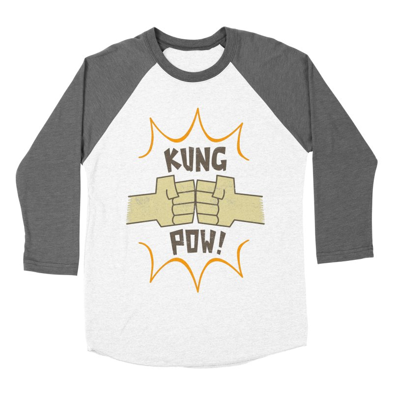 KUNG POW! Men's Baseball Triblend T-Shirt by Habuki Artist Shop