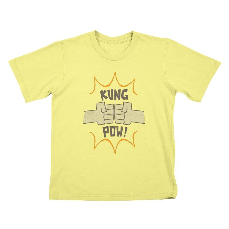KUNG POW! Kids T-shirt by Habuki Artist Shop