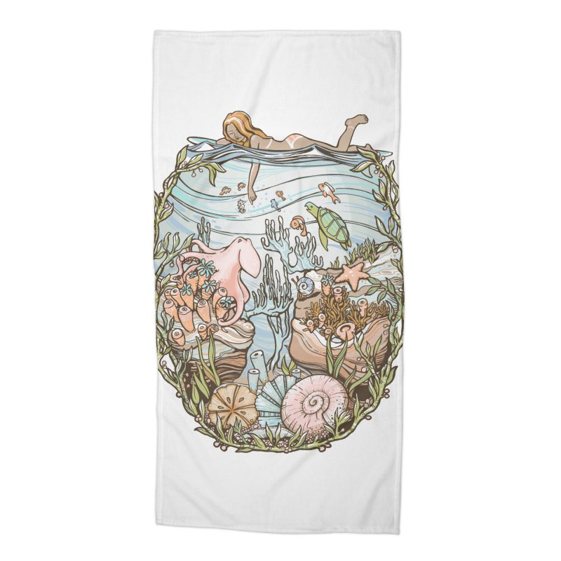 The Peace of Wild Things Accessories Beach Towel by Chapman at Sea // surf art by Tash Chapman