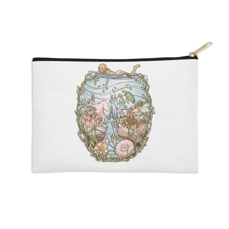The Peace of Wild Things Accessories Zip Pouch by Chapman at Sea // surf art by Tash Chapman