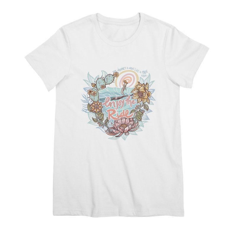 Enjoy the Ride Women's Premium T-Shirt by Chapman at Sea // surf art by Tash Chapman
