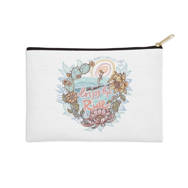 Enjoy the Ride Accessories Zip Pouch by Chapman at Sea // surf art by Tash Chapman
