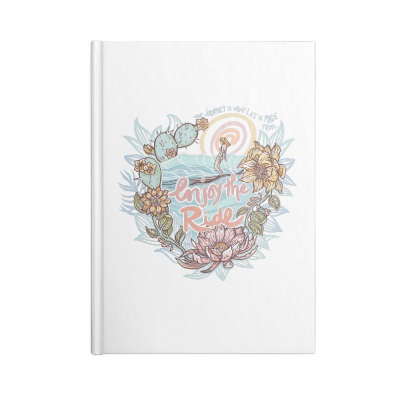 Enjoy the Ride Accessories Blank Journal Notebook by Chapman at Sea // surf art by Tash Chapman