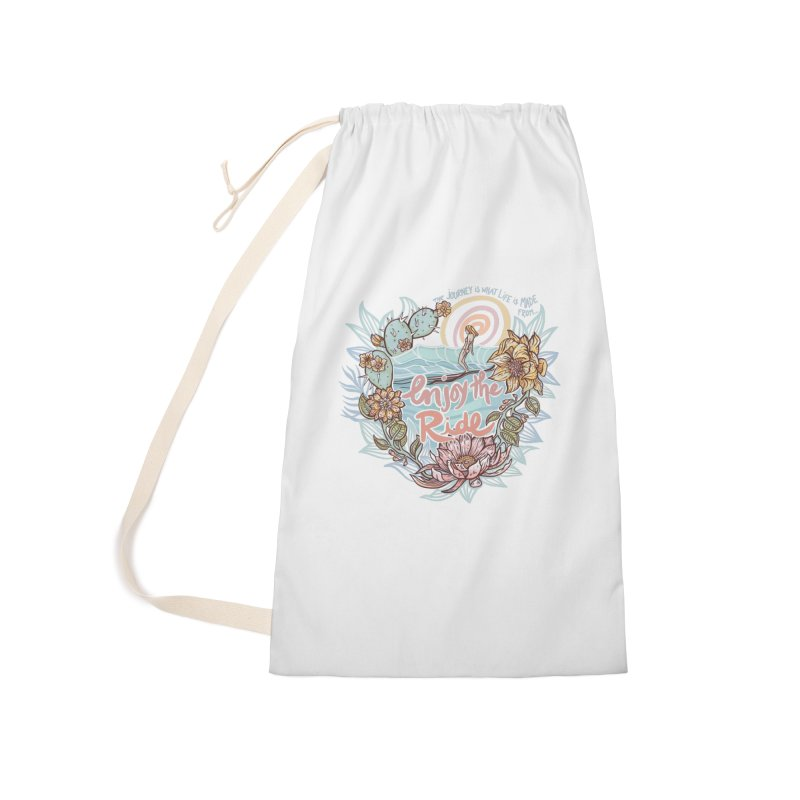 Enjoy the Ride Accessories Laundry Bag Bag by Chapman at Sea // surf art by Tash Chapman