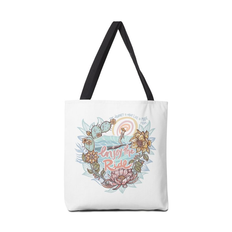 Enjoy the Ride Accessories Bag by Chapman at Sea // surf art by Tash Chapman