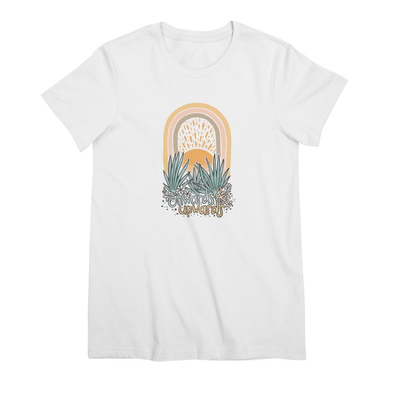 Up We Go Women's Premium T-Shirt by Chapman at Sea // surf art by Tash Chapman