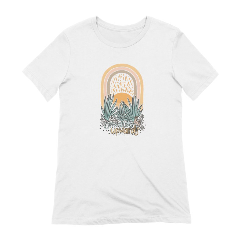 Up We Go Women's Extra Soft T-Shirt by Chapman at Sea // surf art by Tash Chapman