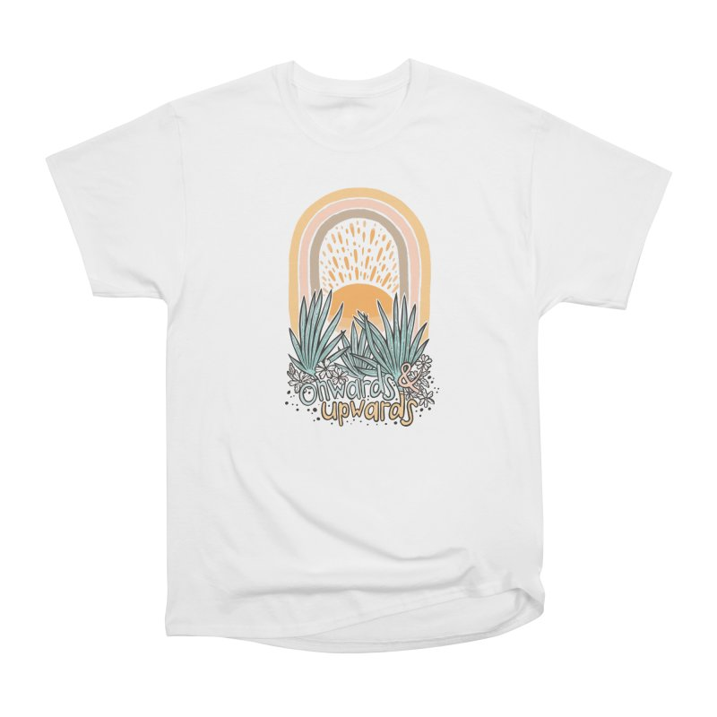 Up We Go Women's Heavyweight Unisex T-Shirt by Chapman at Sea // surf art by Tash Chapman