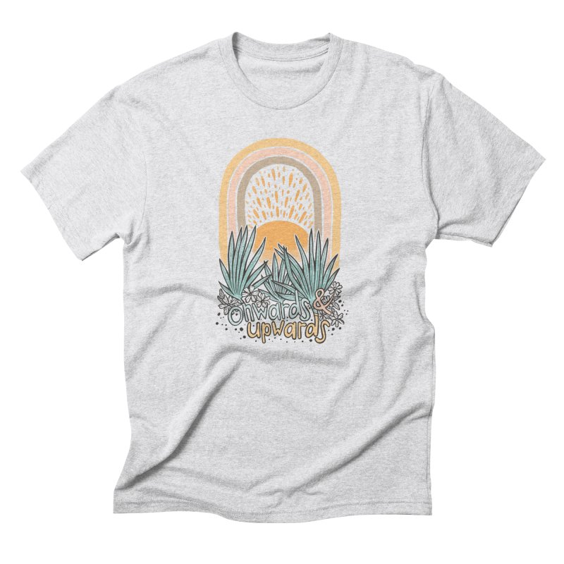 Up We Go Men's Triblend T-Shirt by Chapman at Sea // surf art by Tash Chapman