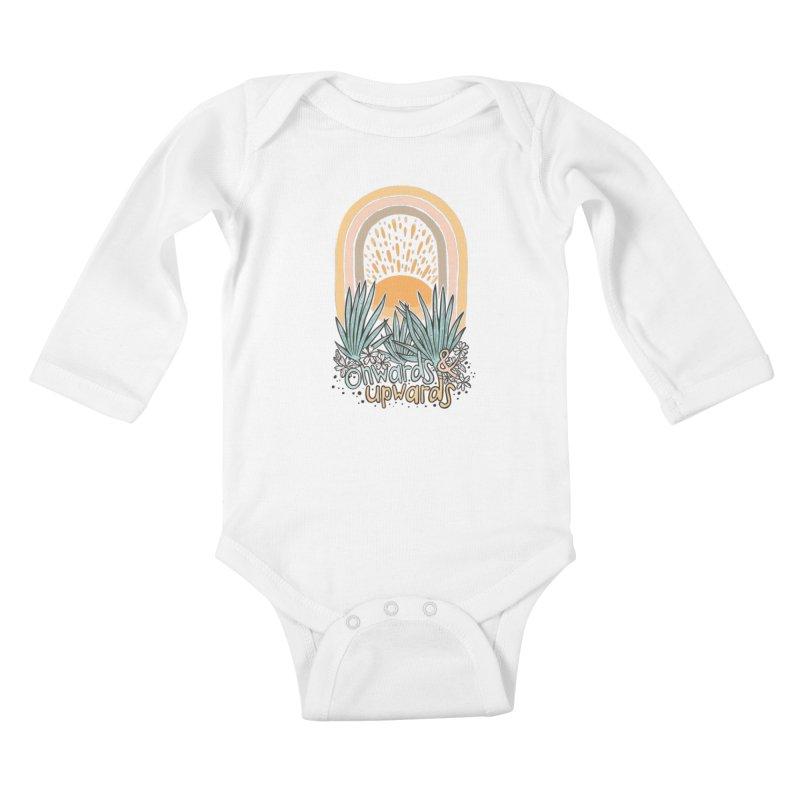 Up We Go Kids Baby Longsleeve Bodysuit by Chapman at Sea // surf art by Tash Chapman