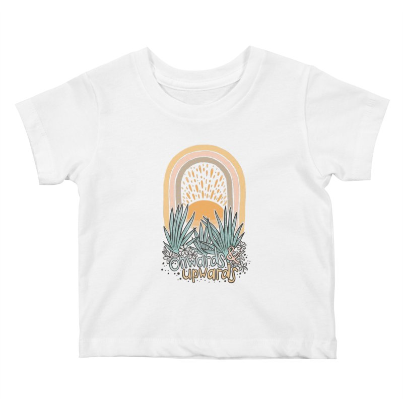 Up We Go Kids Baby T-Shirt by Chapman at Sea // surf art by Tash Chapman