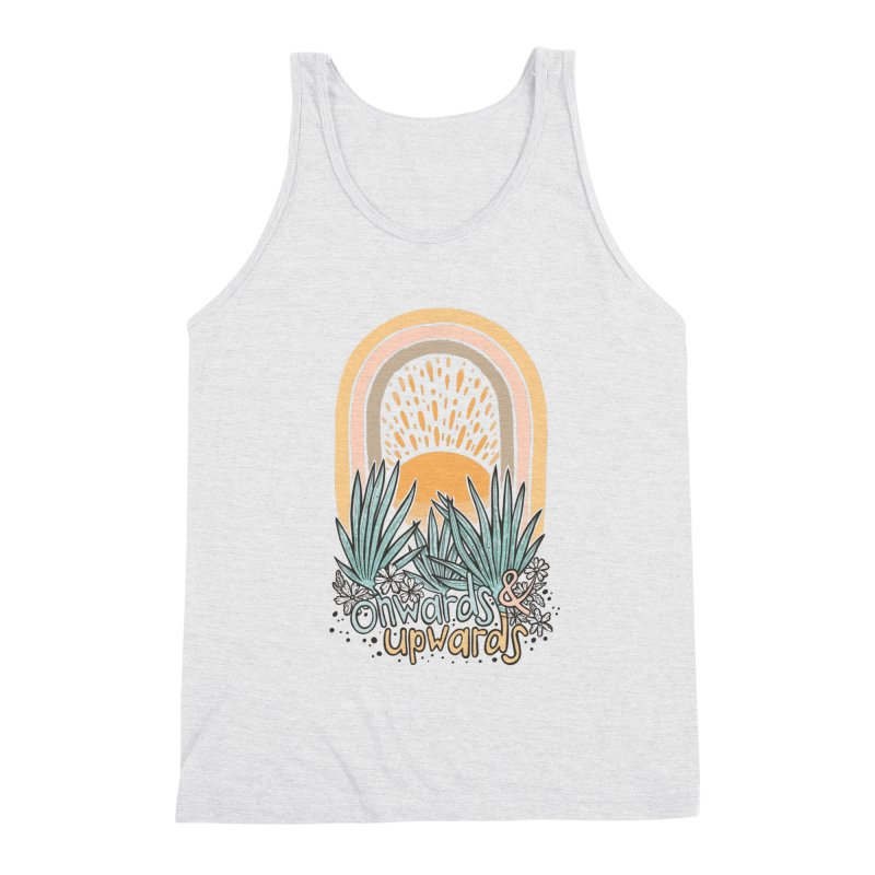 Up We Go Men's Triblend Tank by Chapman at Sea // surf art by Tash Chapman