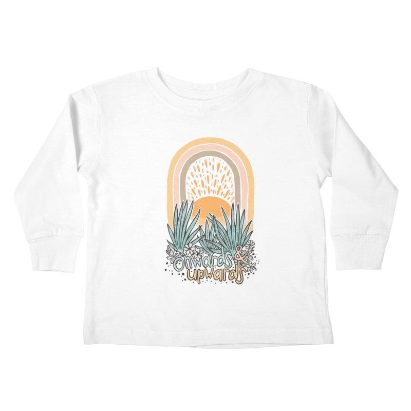 Up We Go Kids Toddler Longsleeve T-Shirt by Chapman at Sea // surf art by Tash Chapman