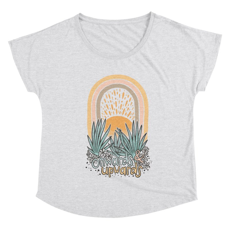 Up We Go Women's Dolman Scoop Neck by Chapman at Sea // surf art by Tash Chapman