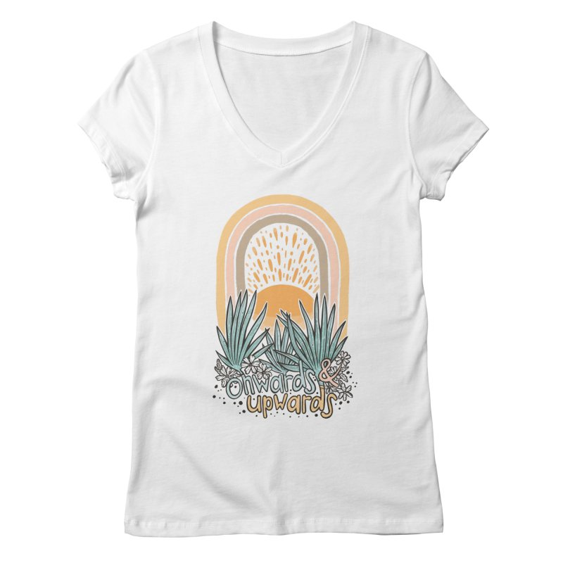 Up We Go Women's V-Neck by Chapman at Sea // surf art by Tash Chapman