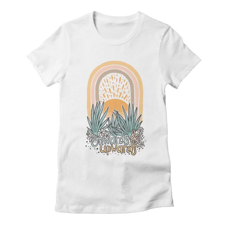 Up We Go Women's Fitted T-Shirt by Chapman at Sea // surf art by Tash Chapman