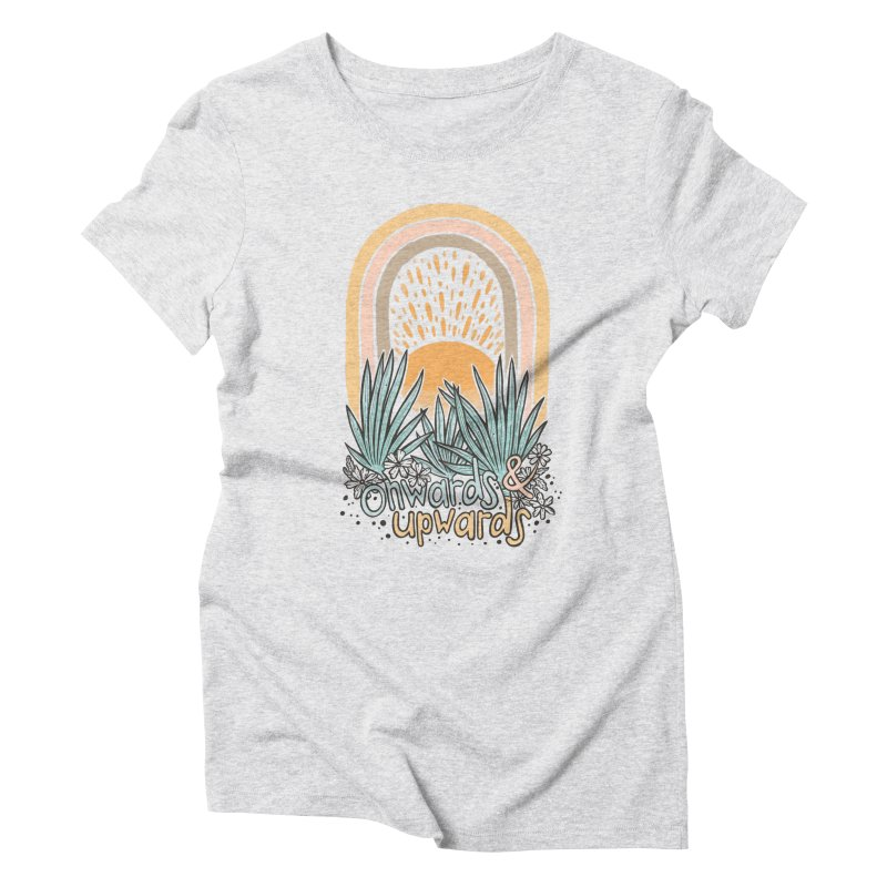 Up We Go Women's Triblend T-Shirt by Chapman at Sea // surf art by Tash Chapman
