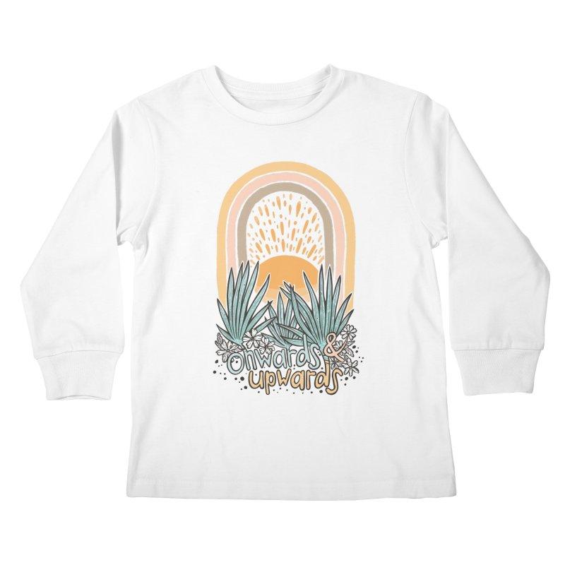 Up We Go Kids Longsleeve T-Shirt by Chapman at Sea // surf art by Tash Chapman