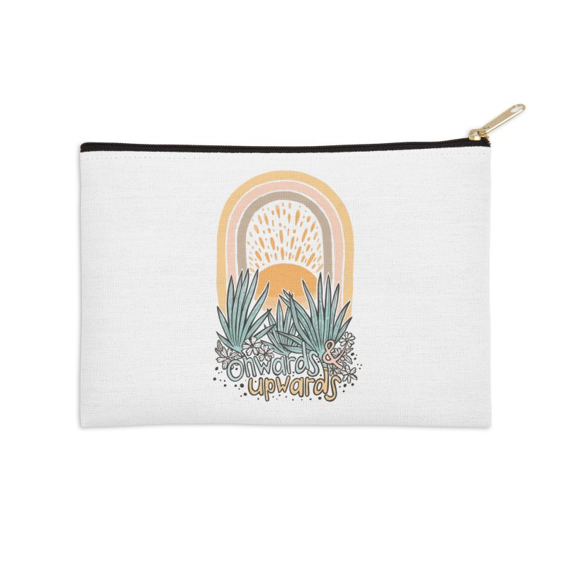 Up We Go Accessories Zip Pouch by Chapman at Sea // surf art by Tash Chapman