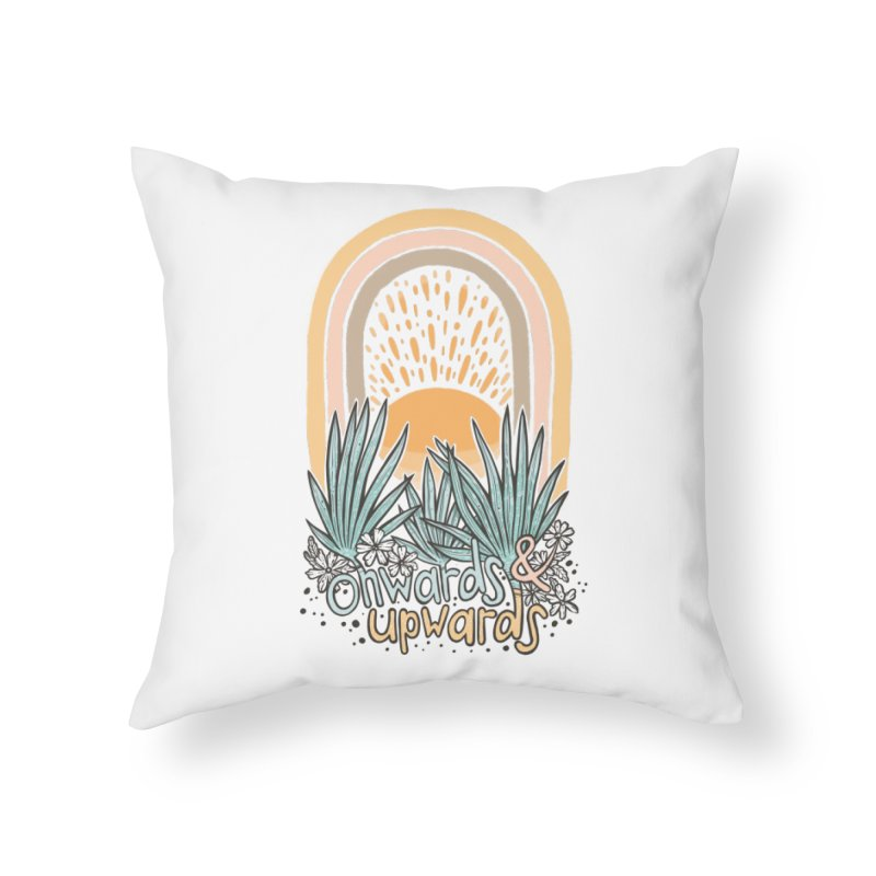 Up We Go Home Throw Pillow by Chapman at Sea // surf art by Tash Chapman
