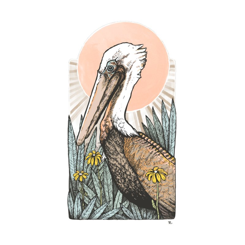 Gerald Among the Flowers Accessories Greeting Card by Chapman at Sea // surf art by Tash Chapman