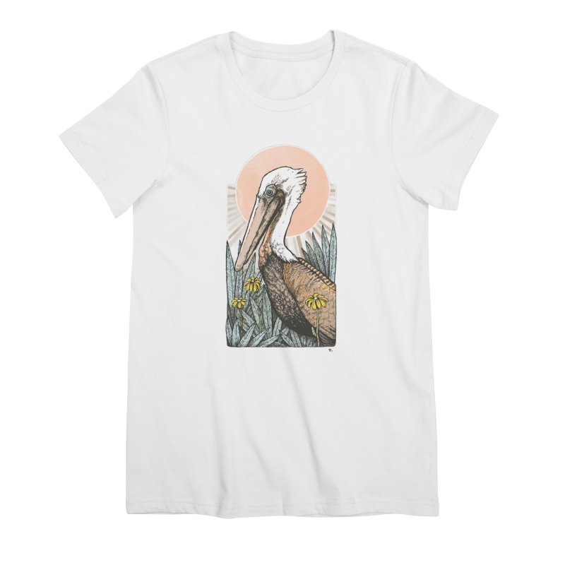 Gerald Among the Flowers Women's Premium T-Shirt by Chapman at Sea // surf art by Tash Chapman