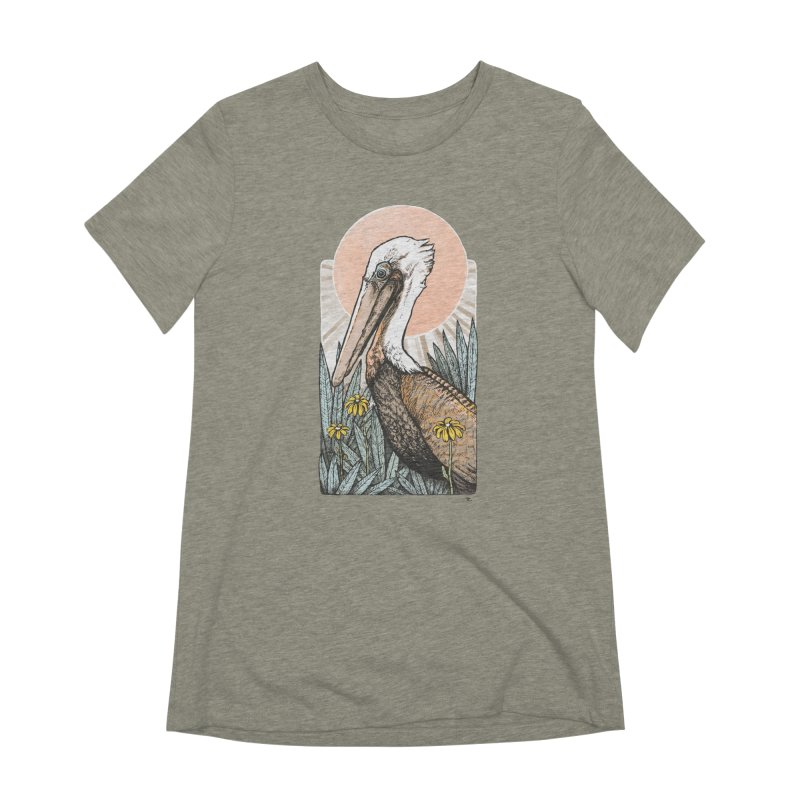 Gerald Among the Flowers Women's Extra Soft T-Shirt by Chapman at Sea // surf art by Tash Chapman