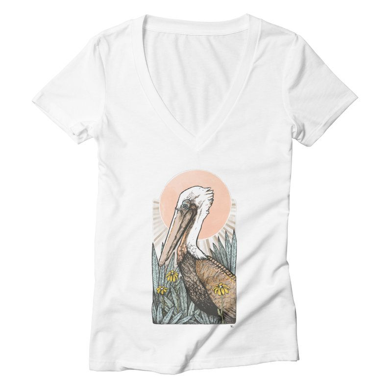 Gerald Among the Flowers Women's V-Neck by Chapman at Sea // surf art by Tash Chapman