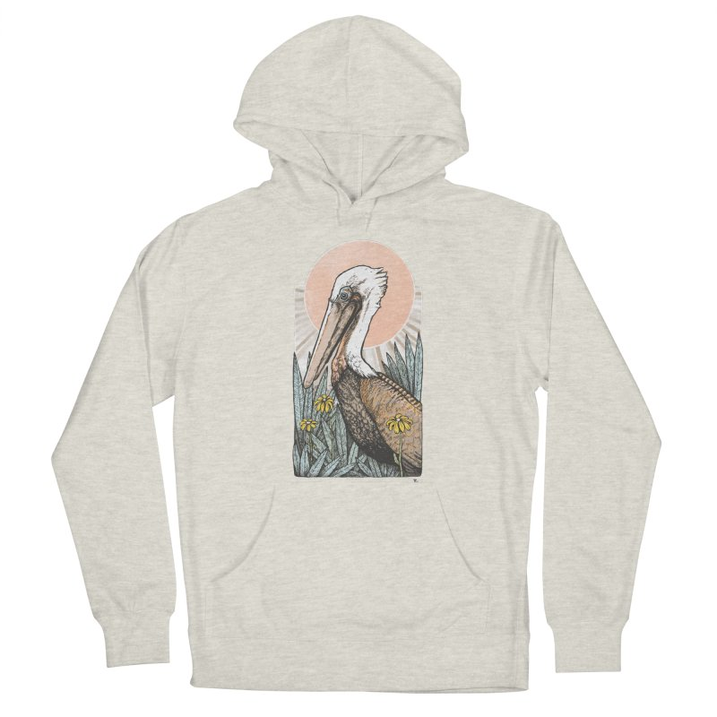 Gerald Among the Flowers Men's French Terry Pullover Hoody by Chapman at Sea // surf art by Tash Chapman
