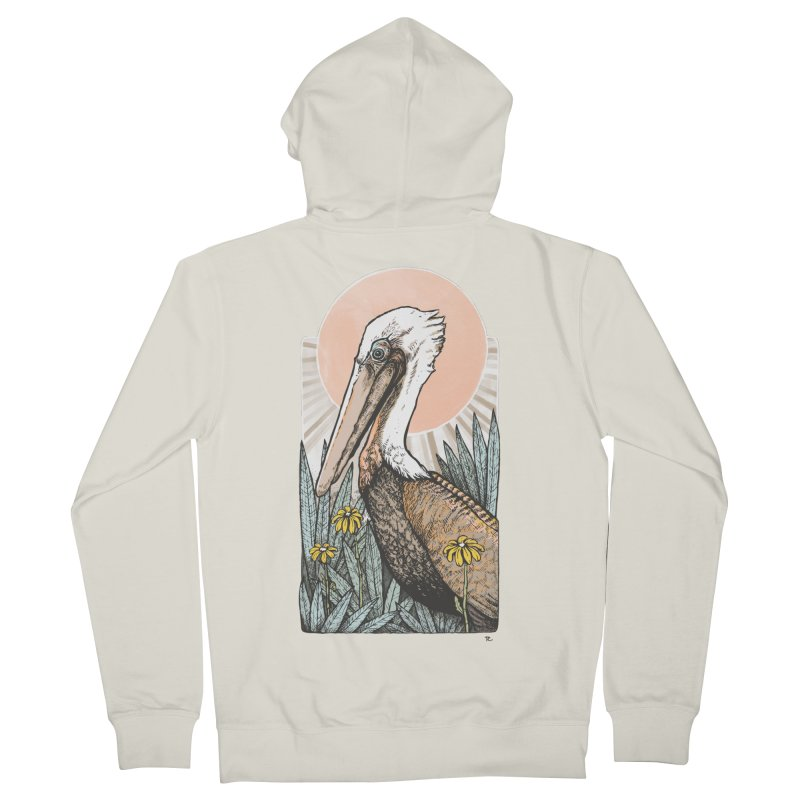 Gerald Among the Flowers Men's Zip-Up Hoody by Chapman at Sea // surf art by Tash Chapman