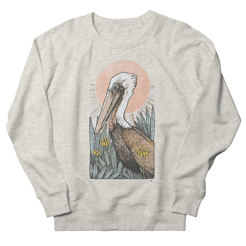 Gerald Among the Flowers Men's Sweatshirt by Chapman at Sea // surf art by Tash Chapman